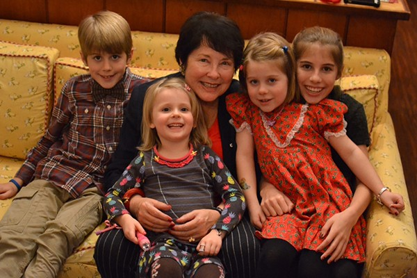 Dale Godsoe, C.M. with her grandchildren